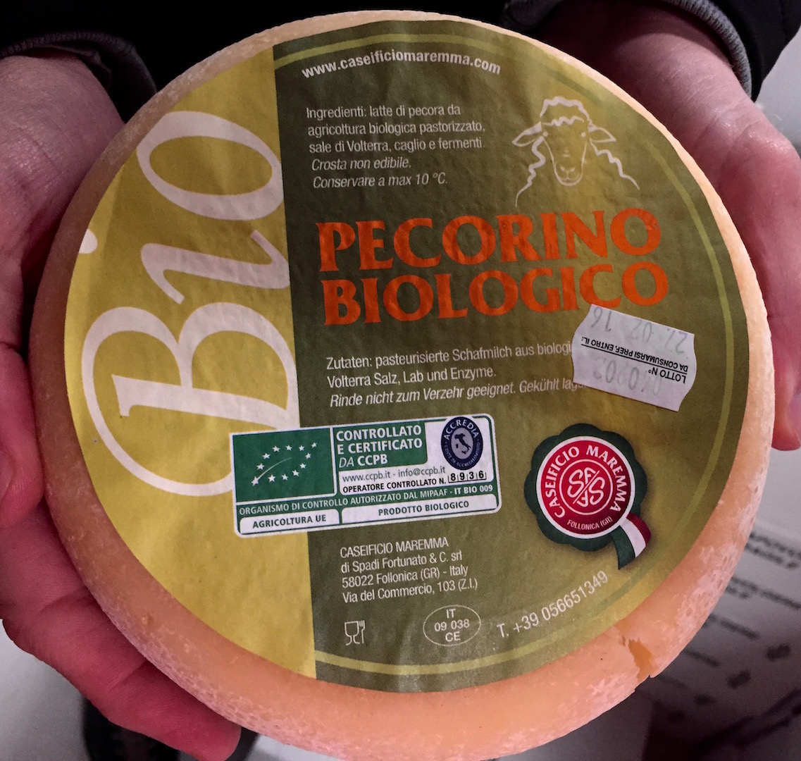 Biologische Pecorino kaas