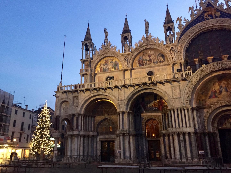 Venetië San Marco plein Kerstmis