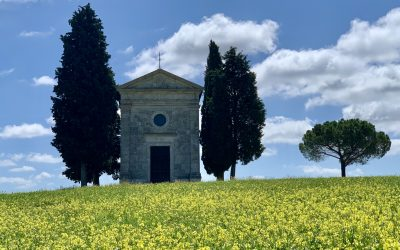 Chapel of the Madonna di Vitaleta in San Quirico d'Orcia Tuscany