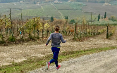 Exercising outside in Montepulciano