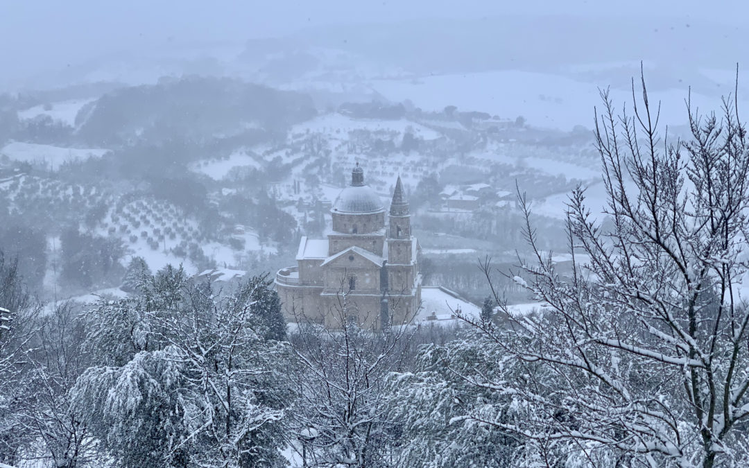 Snowfall in Montepulciano